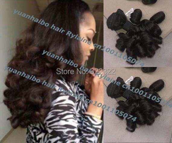 Best quality 6a grade 1b# 3pcs/lot virgin peruvian bouncy curl aunty funmi hair extensions for black women free shipping<br><br>Aliexpress