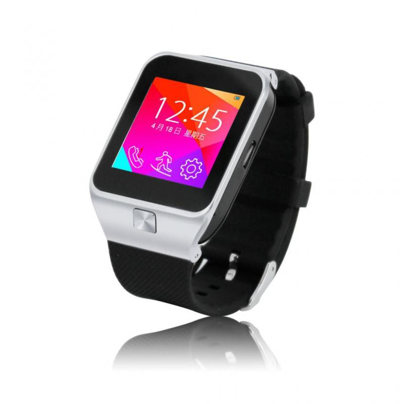 Smart Bluetooth Wristwatch Watch Phone Copy Of <font><b>Samsung</b></font> <font><b>Gear</b></font> <font><b>2</b></font> Support 8GB SMS TF Record pedometer MP3 single SIM For android