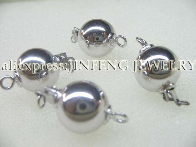 free shipping wholesale 10mm round sterling silver clasp finding jewelry<br><br>Aliexpress