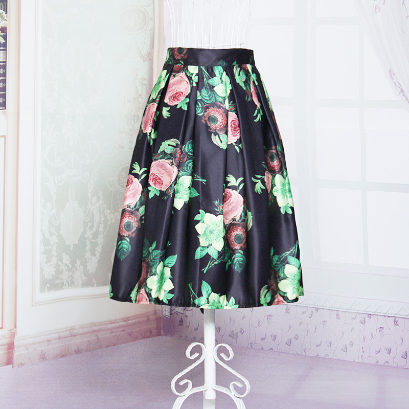 2015 new fashion knee length midi skirts for vintage