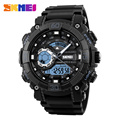SKMEI 1228 Men Sport Watch Digital Quartz Watches LED Big Dial Clock 30M Waterproof Dual Display
