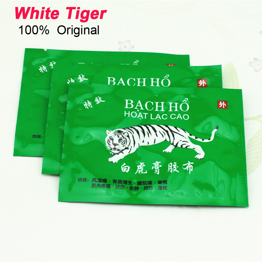 White Tiger Medical Plaster VietnamTiger Bady Neck Back Massager Massage Relaxation Pain Relief Patch Arthritis Health Care C086(China (Mainland))