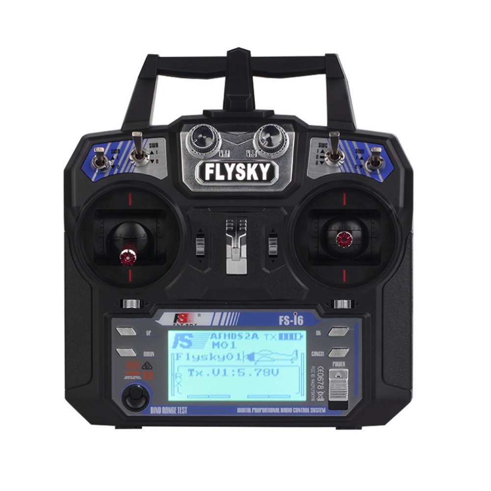 Wholesale FlySky FS-i6 2.4G 6CH AFHDS RC Transmitter With FS-iA6 FS-iA6B Receiver for Airplane Heli UAV Multicopter Drone