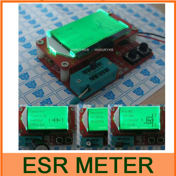 Digital ESR Meter Mega328 Transistor Tester Diode Triode Capacitance MOS/PNP/NPN L/C/R TESTER METER(China (Mainland))