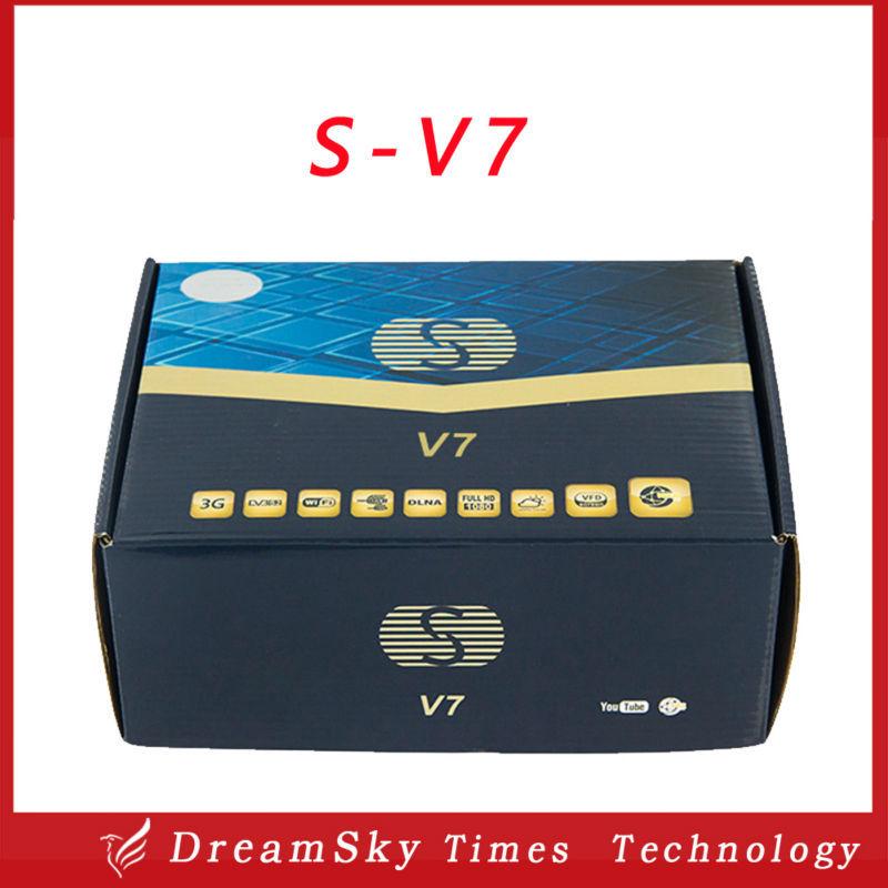 DHL Shipping!!S-V7 Digital Satellite Receiver Skybox V7 S V7 AV output VFD Support WEB TV USB Wifi 3G Biss Key Youporn CCCAMD(China (Mainland))