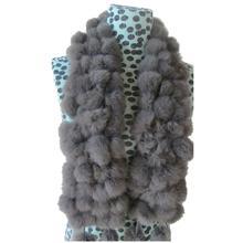New Women Winter Real Rabbit Fur Scarf Lady Casua Fur Scarves 100 Fur Ball Velvet Rabbit Echarpe Luxury #2458(China (Mainland))