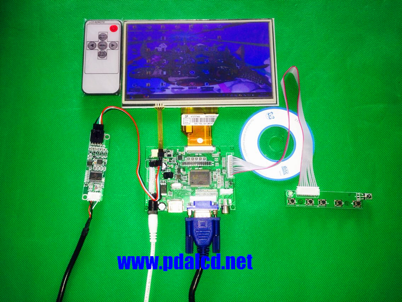 """INNOLUX  7"""" inch Raspberry Pi LCD Touch Screen Display TFT Monitor AT070TN90 with Touchscreen Kit HDMI VGA Input Driver Board(China (Mainland))"""