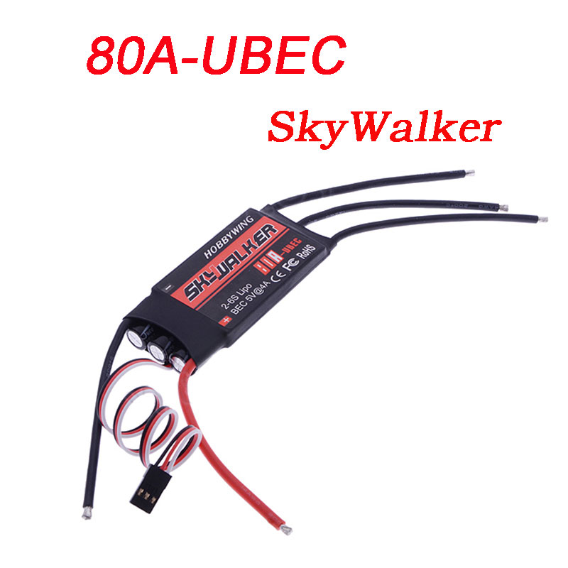 80A ESC Hobbywing Skywalker Electric Speed Controller BEC 5V 4A 2-6S Lipo Battery 80A UBEC RC Airplane Multicopter Quadcopter(China (Mainland))