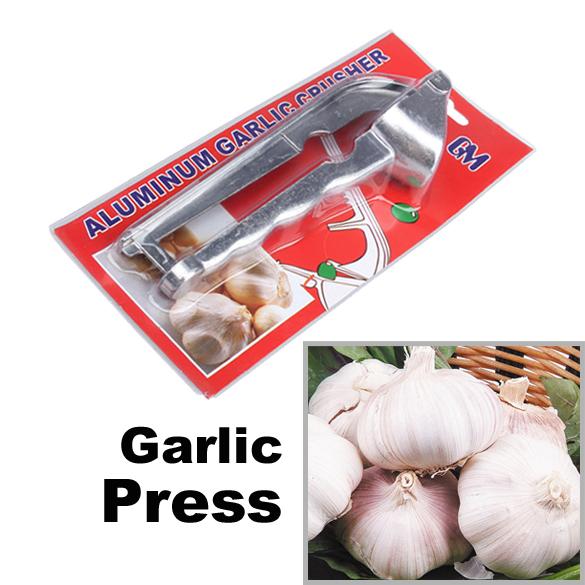 Free Shipping Hot Sale Kitchen Tool Aluminum Garlic Ginger Press Crusher E(China (Mainland))