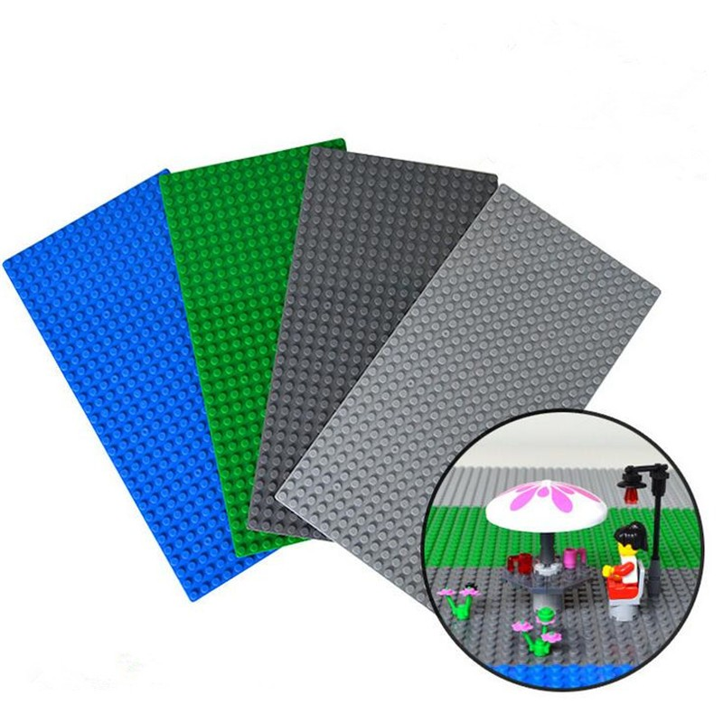 1pcs Small Blocks Base Plate 32*16 Dots 12.8*25.6 Cm building blocks DIY Baseplate For Minifigures Compatible with Legoe SA496<br><br>Aliexpress