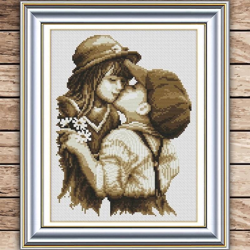 Комплект для вышивания Первый романтический поцелуй фото