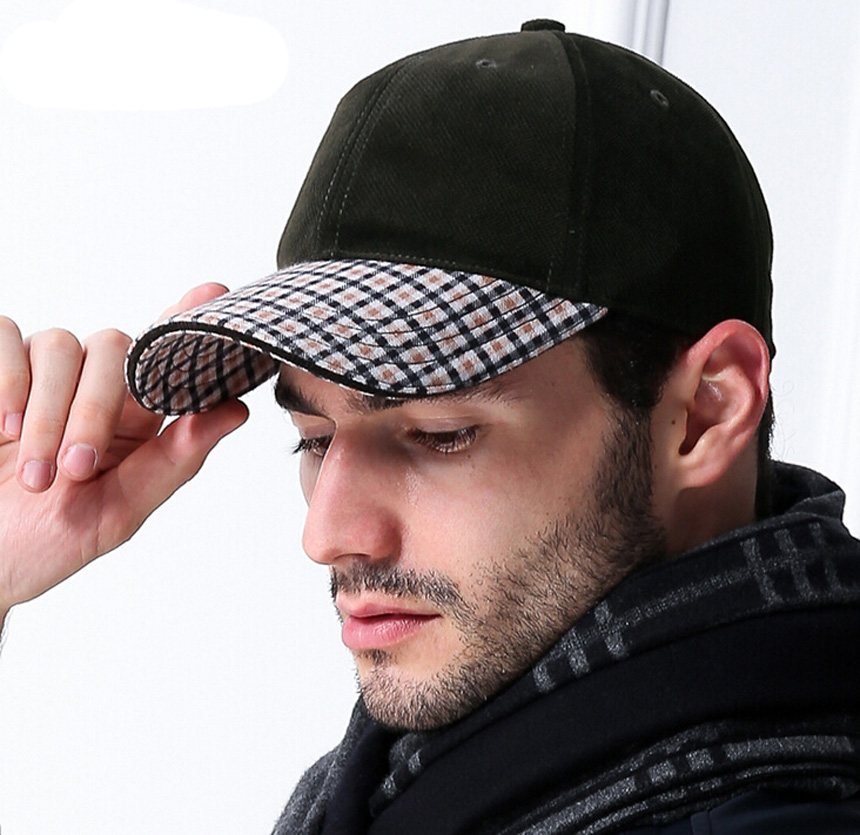 Bulk Hats 24pcs Branded Mens Plaid Baseball Hats for Spring Fall High Quality Men Baseball Caps Cotton Strapback Ball Cap Online(China (Mainland))