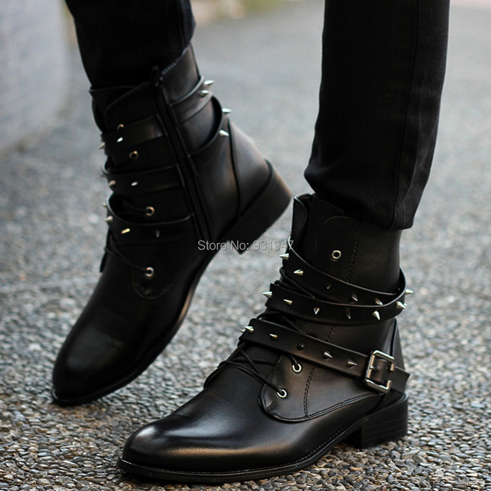 Ankle Boots Punk Ankle Boots Mens Punk