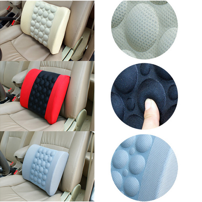 New Electric Car Lumbar Support High Quality Car Back Seat Cushion Auto Seat Massage Relaxation Waist Support Pillow(China (Mainland))