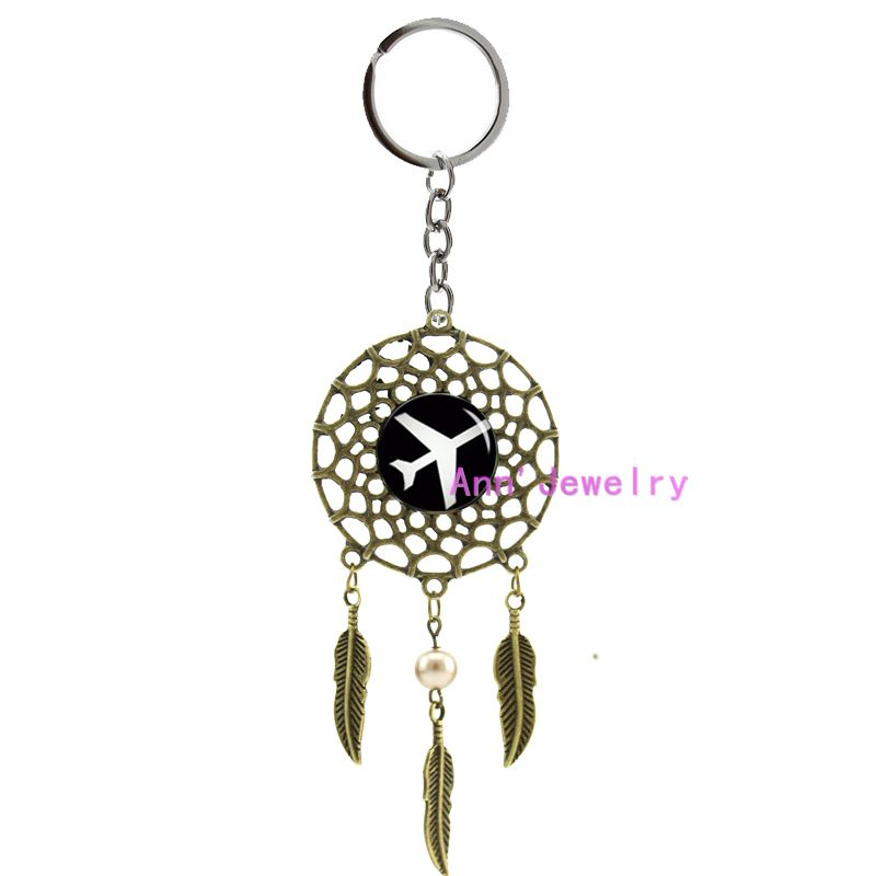 770-plane keychain plane dream catcher airplane feather Aircraft indian Airline, Golden Airplane, aviation voyage, airline(China (Mainland))