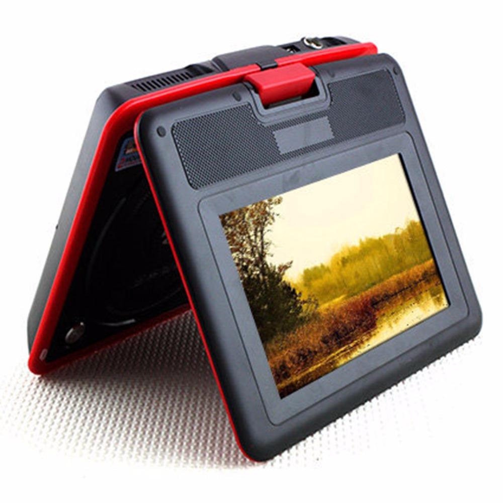 Red 9.8 Inch LCD TV Mini Digital Mobile TV Portable Rotating Screen DVD EVD Player TV VCD CD MP3/4 USB Game TV US / EU Plug<br><br>Aliexpress
