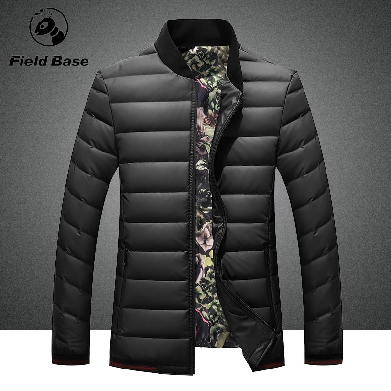FieldBase brand new 2016 men down jacket winter thick section youth baseball uniform leisure sport coat collar stitching male(China (Mainland))