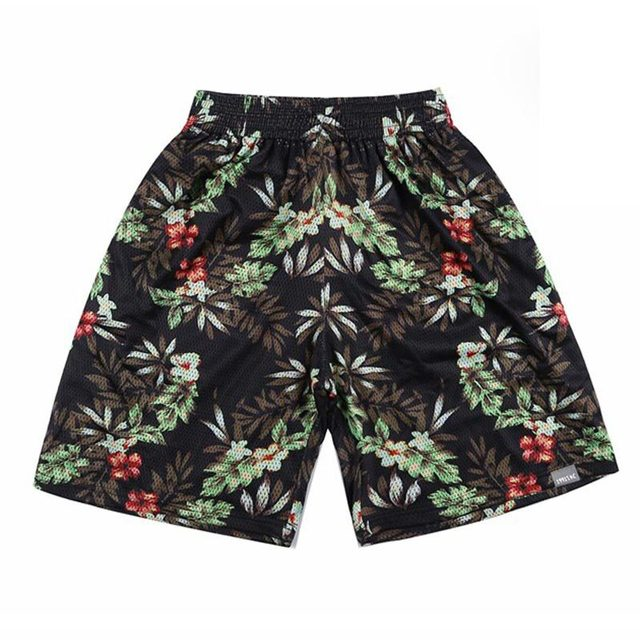 [ Mikeal ] Новый стиль мужские пляжные шорты быстро сухой сетки баскетбол шорты печать ...