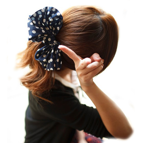 Fashion 2015 Bowknot Headband Headwear Hair Ribbons Ponytail Holder Hair Tie Band Lovely Style Women Accessories 4VL9(China (Mainland))