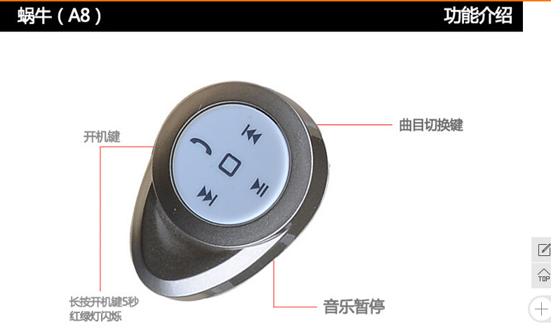 top sale bluetooth earphone thanks tbe02 mobile bluetooth headset shipping fr. Black Bedroom Furniture Sets. Home Design Ideas