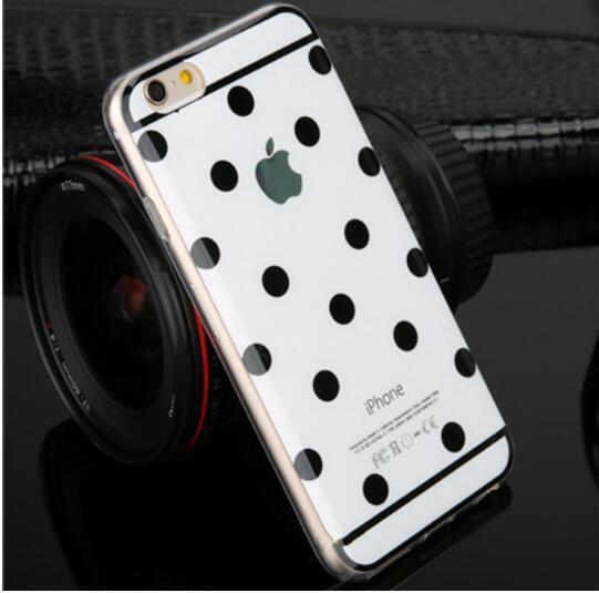 2016 soft TPU coque etui for apple iphone 6 6s 4.7″ 6plus 6splus 5.5″ dot case cover luxury claasic Wave point capa carcasa p1