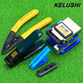 KELUSHI 5 In 1 FTTH Fiber Optic Tool set with FC 6S Cleaver and Double hole