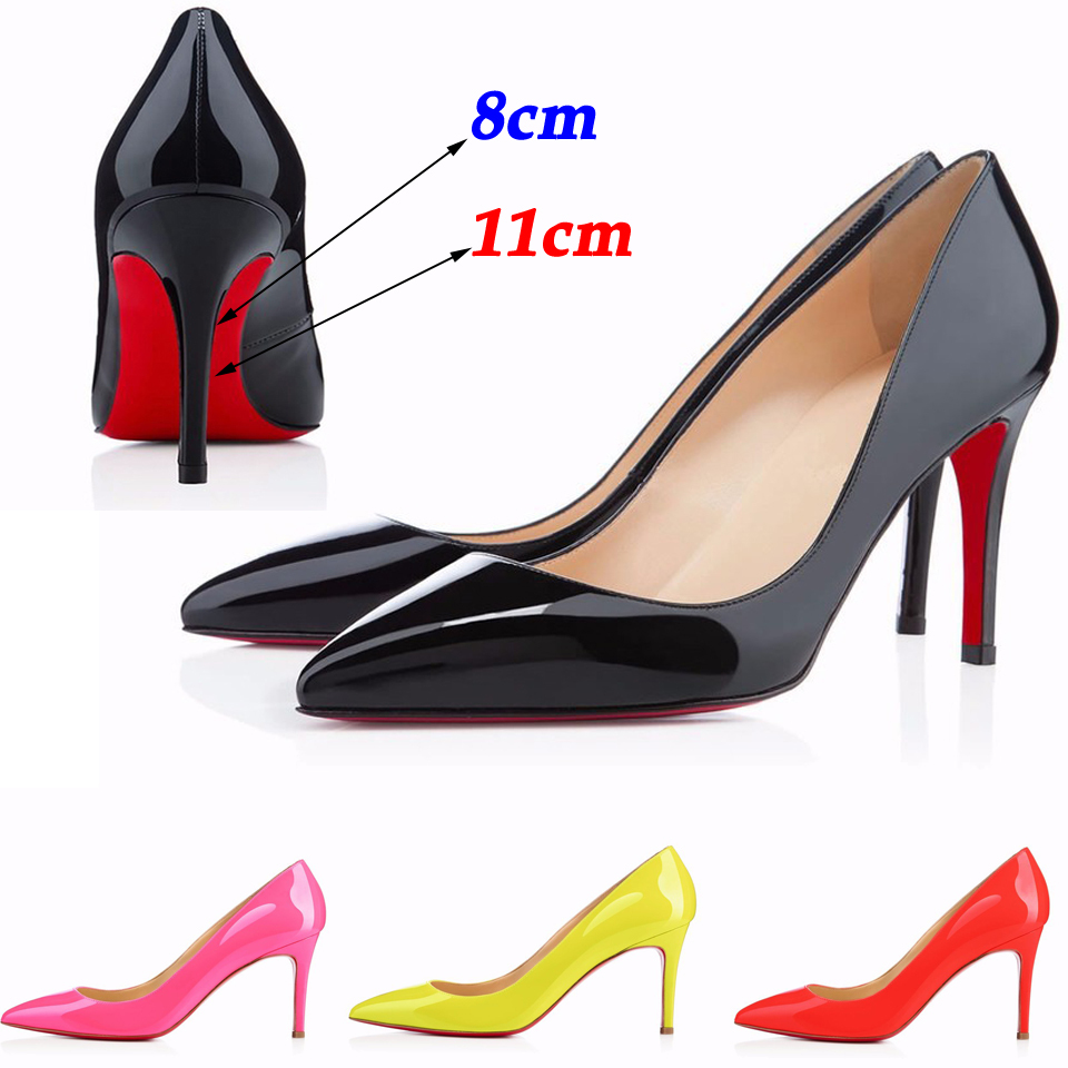 25 colors 2015 women shoes red bottom high heels women pumps wedding shoes sapatos femininos size 35-42(China (Mainland))