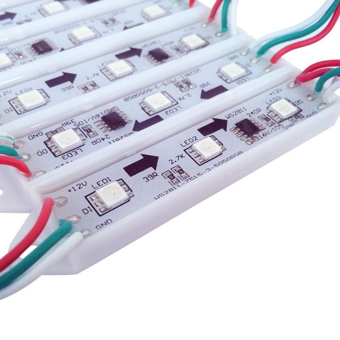 Купить Свет и освещение  20PCS/String Top selling 2811 IC 3leds/pcs 5050 RGB LED Pixel digital Module String Light Waterproof 12v with DC Connector None