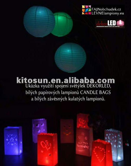 Facotry Wholesale 100pcs/pack Multi-colour Sky lantern light and Chinese paper lantern decor light(China (Mainland))