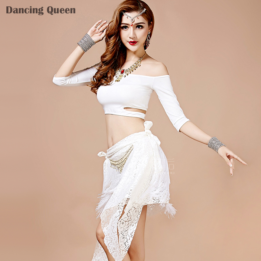 Professional Belly Dance Costume Set Red/Green/White Women Indian Dresses Lady Dance Wear Stage Wear Performance/Practice Dress