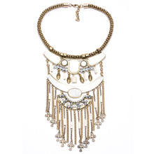 New Long cross Necklaces 4 colors Tassel Necklace Trendy Zinc Alloy Statement Necklace Rhinestone Necklaces For Women Jewelry(China (Mainland))