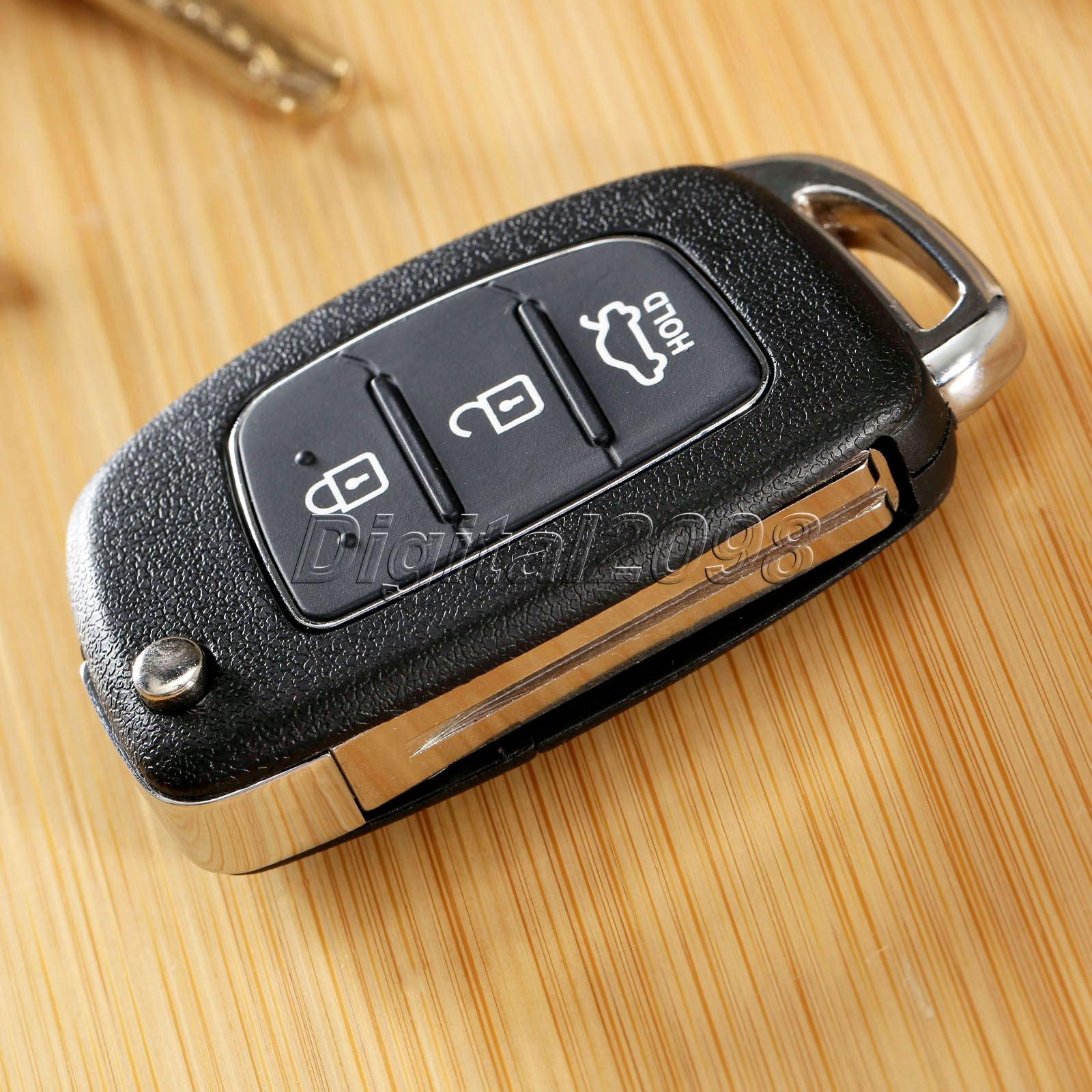 1Pc Replacement auto parts Shell 3 Buttons Flip Folding Remote Key Case Fob for HYUNDAI ix45 Santa Fe Keyless Entry Fob Cover(China (Mainland))
