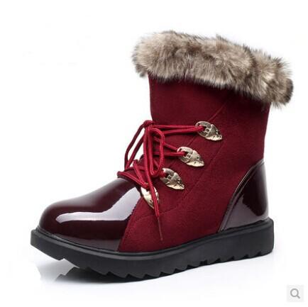 Flats Snow Boats Winter Boots New 2014 Brand Hot-Sale Waterproof Womens Shoes Plush Big Plus Size warm women winter shoes D08<br><br>Aliexpress