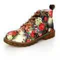 2016 Spring Fashion Retro Printing Autumn ankle boots for women flat heel Cotton shoes woman platform