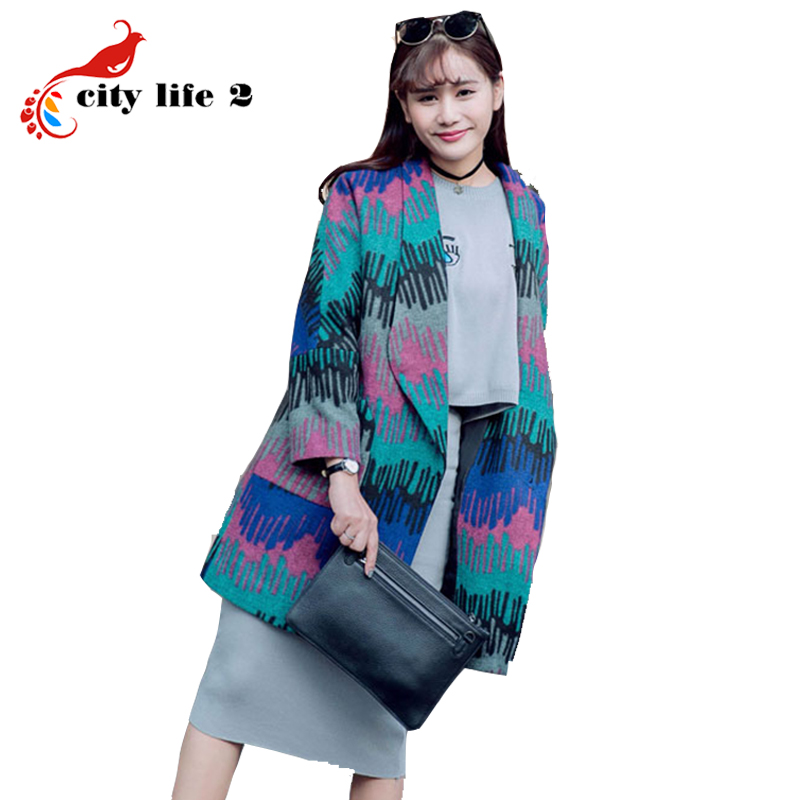 Winter Jacket Women European Cashmere Coat Fall And Winter 2015 New Loose Style Outerwear Fashion Long CoatОдежда и ак�е��уары<br><br><br>Aliexpress