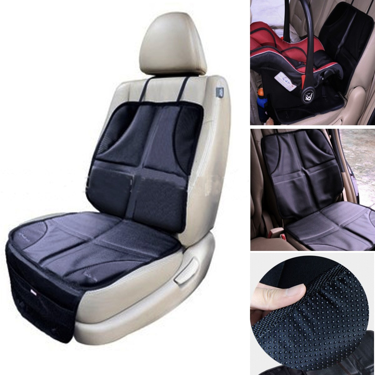 Car Auto Baby Infant Child Seat Saver Easy Clean Protector Safety Anti Slip Cushion Cover(China (Mainland))