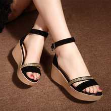 Summer 2016 Hot Fashion New Black Women Sandals Female Shoes for Women Nubuck Leather Trifle Shoes