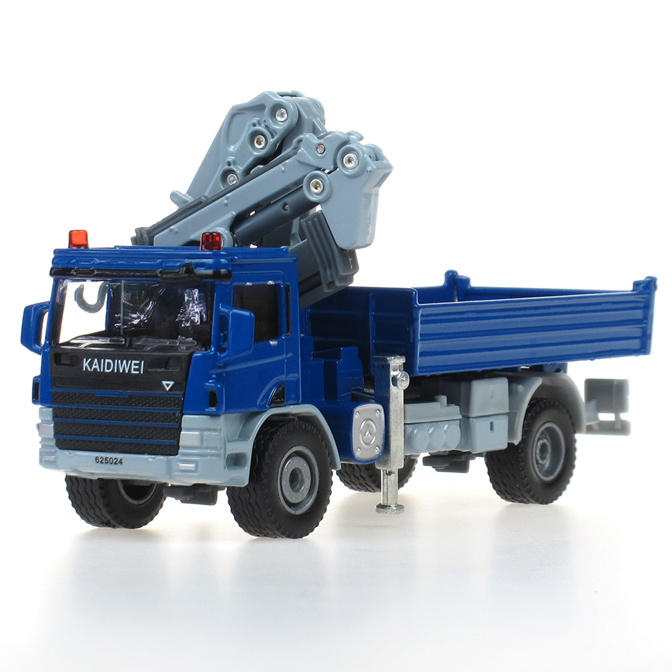 Free Shipping Wholesale 5pcs/pack Brand New 1/50 Scale Crane Truck Cool Diecast Metal Car Model Toy(China (Mainland))
