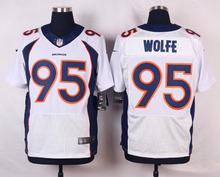 100% Stitiched,Denver Broncos Derek Wolfe for men(China (Mainland))