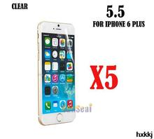 5pcs Clear Screen Protector Cover, Front Screen Protector Film for Iphone 6 Plus 5.5″ Without Retail Package