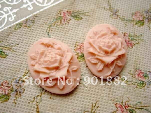18*25MM mix color DIY resin cabochons rose for jewelry decoration!! 100pcs(China (Mainland))