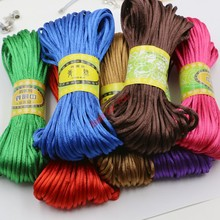 Buy 10yard Soft Satin Rattail Silk Macrame Cord Nylon Kumihimo Shamballa Diy Bracelet Necklace Jewelry Findings Accessories 2mm for $1.08 in AliExpress store