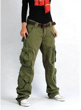 2015 New Women's Cargo Pants Leisure loose Trousers Outdoor more Pocket pants Hiking pants(China (Mainland))