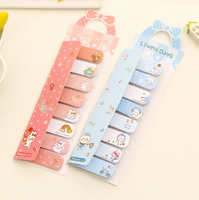 3 Kawaii Bow Planner Sticker Decorative Notebook Bookmark School Stationery Sticky Notes Notepad Post it Papelaria Filofax Papel