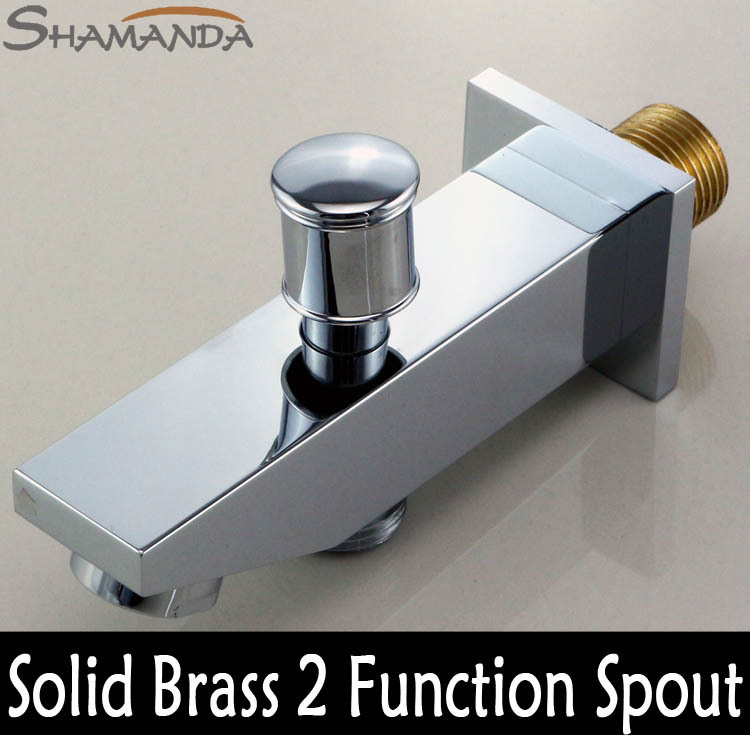 Free Shipping Bathroom Faucet Accessories Solid Brass Chrome Finished In Wall Shower Set Spout