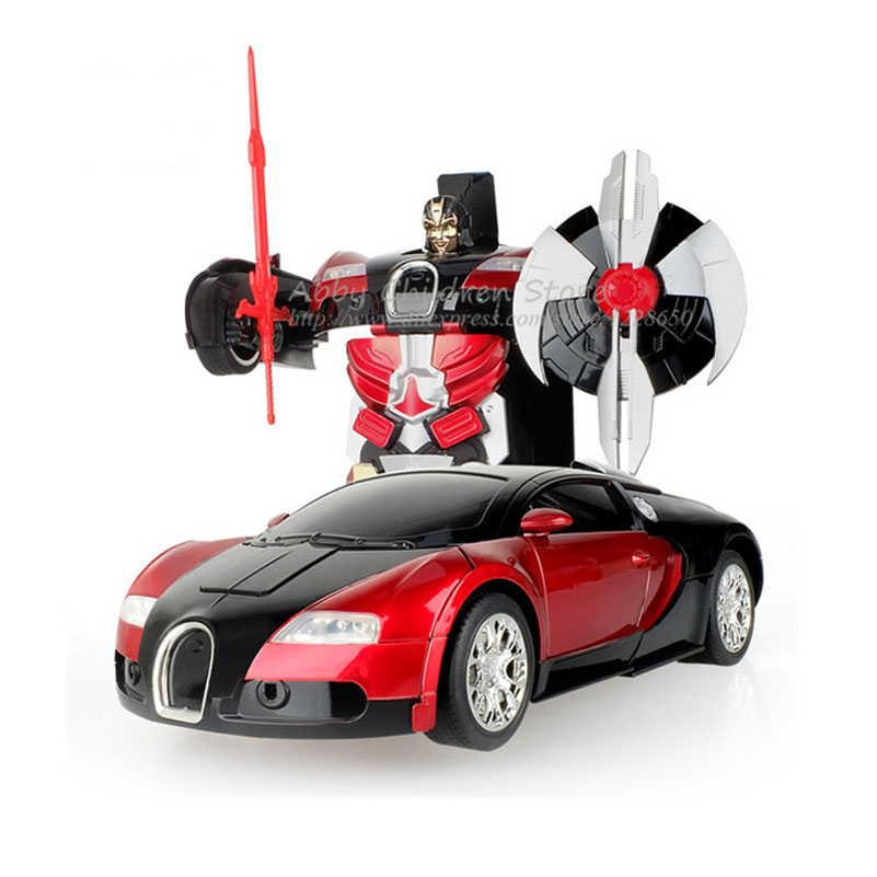 RC Cars Transformation Robots Remote Control Transform Toy Light Sound Dance Electric Car Models Boy Birthday Gift Action Toy(China (Mainland))