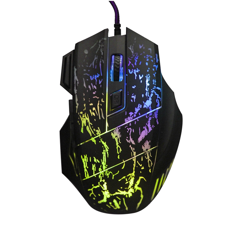 New Arrival 5500 DPI 7 Button LED Optical USB Backlit Wired Mouse Gamer Mice Computer Mouse Gaming Mouse For Pro Gamer(China (Mainland))