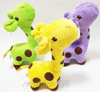 Hot Selling 5 Colors Lovely Baby Giraffe Pendant Plush Stuffed Toy Good Quality Wholesale