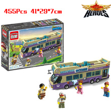 New Sightseeing Bus MiniFigures Action Figures Toys Building Blocks Classic Toys Kid Toys Gift Compatible With Legoed Lbk_qm_011