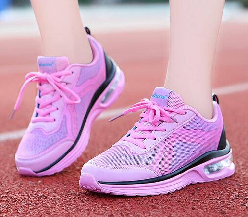 Women Running Superlight Soft Walking Lace Up Solid Mesh High Increased Platform Wearable Outdoor Sport Shoes(China (Mainland))